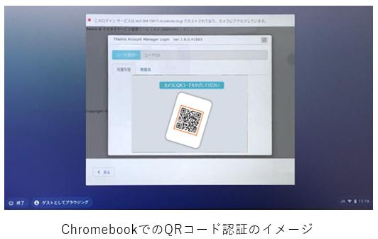 ChromebookでのQRコード認証のイメージ